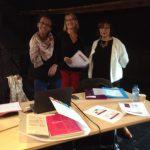 Photo de Marina Soler, Catherine Coppin et Laurence Bruchet lors de la journée de lancement du TEATSA