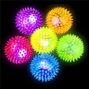 Balles rebondissantes lumineuses à picots